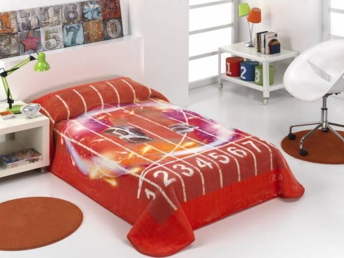 Cuvertură de pat copii atletism roșie 189 160x220 cm