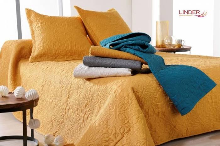 Cuvertură de pat dormitor ivoire clasică Ceylan 5053 230x250 cm