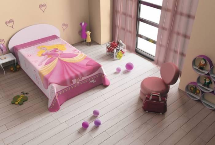 Cuvertură de pat printesa roz 5567 160x220 cm