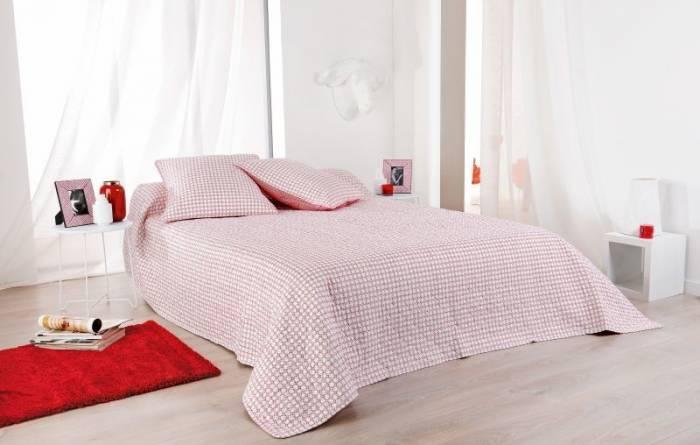 Cuvertură de pat roșie albă 5060 Alicante 230x250 cm