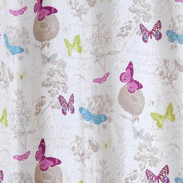 Draperie confecționată Butterfly Blanc