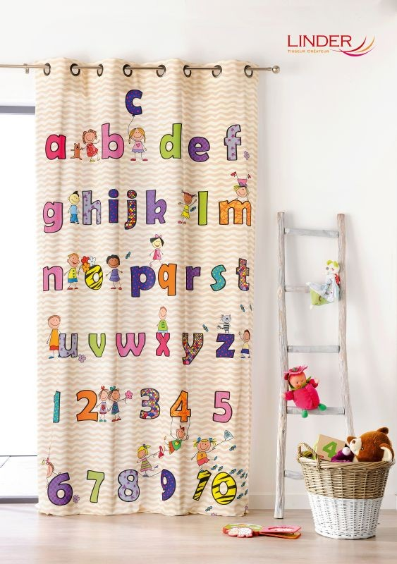 Draperie copii litere colorate Abecedaire 302/49883 140x245 cm