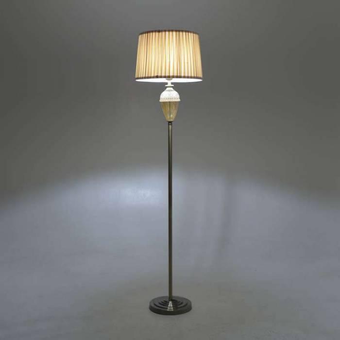 Lampadar din metal, poliester și sticlă Simonne