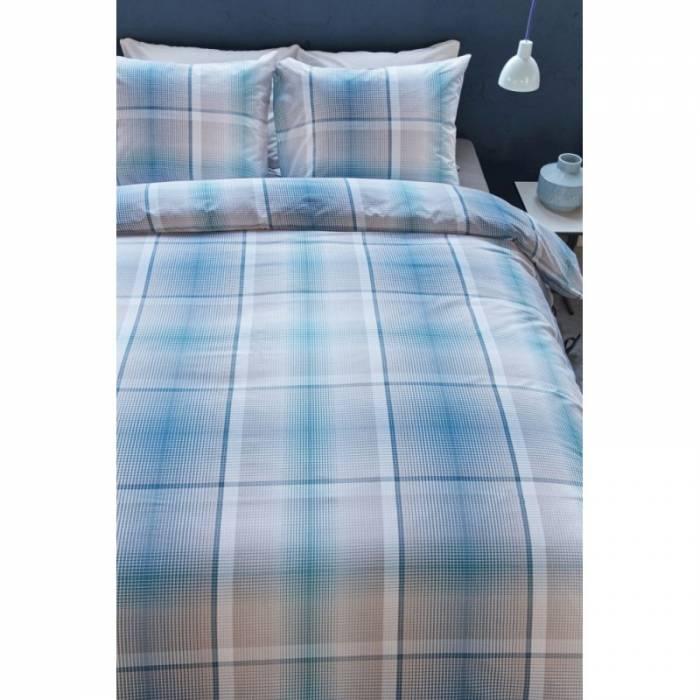 Lenjerie de pat albastră Baker Aqua Blue 200x200/220 cm