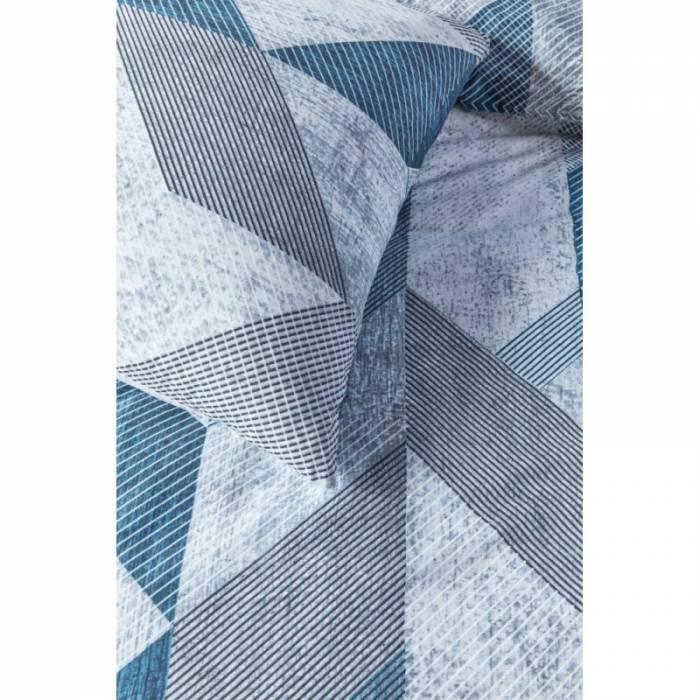 Lenjerie de pat albastră modernă Tuur Blue 200x200/220 cm