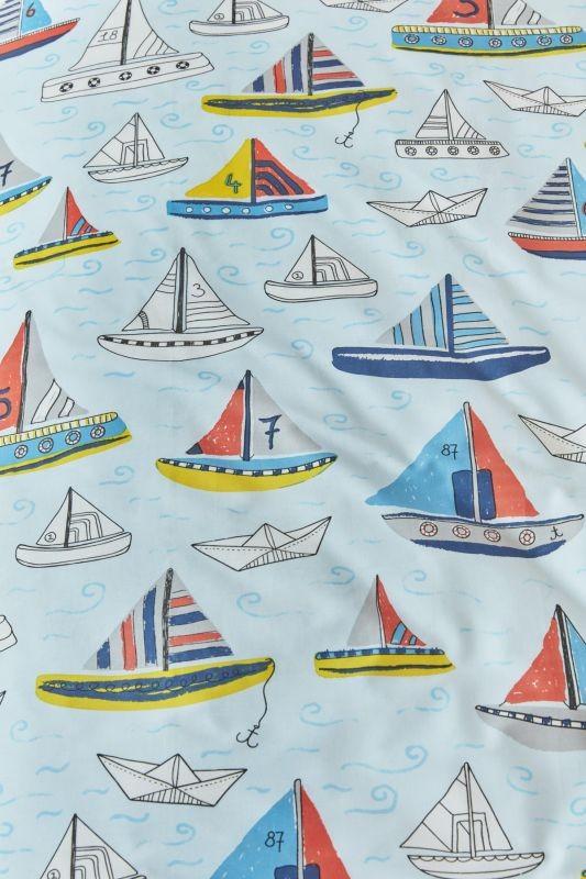 Lenjerie de pat barci Boaty Blue 140x200/220cm