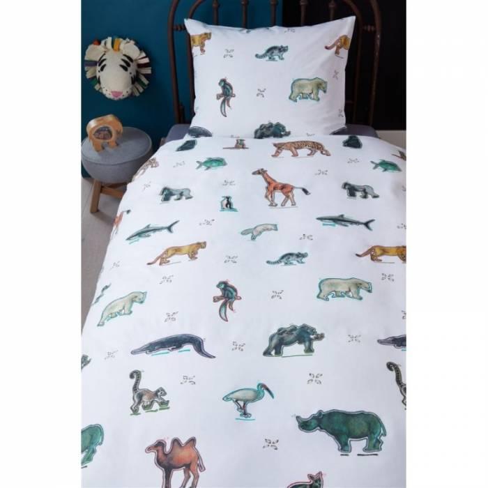 Lenjerie de pat cu animale Zoo 140x200/220 cm