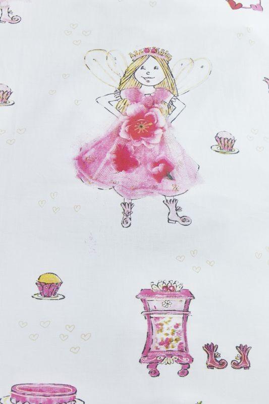 Lenjerie de pat fetițe zane Birthday Fairy Pink 140x200/220 cm