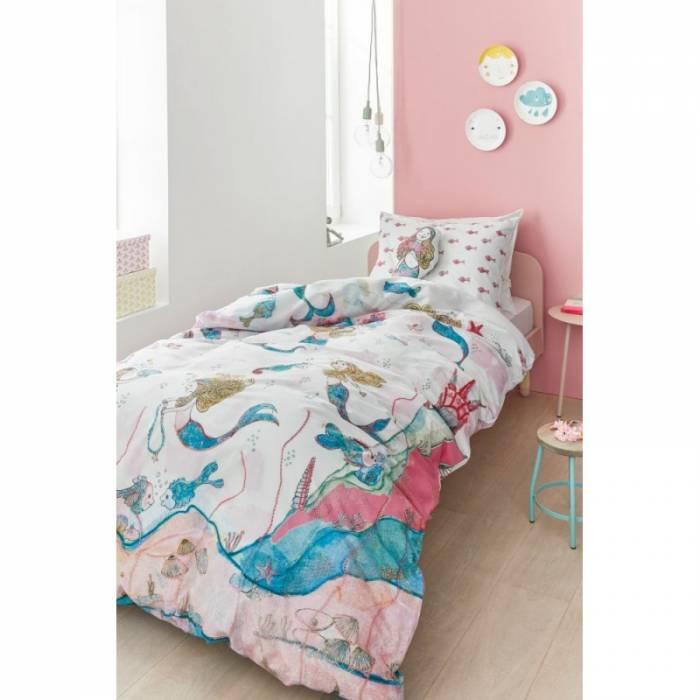 Lenjerie de pat Mica Sirenă Mermaids 200x200/220 cm