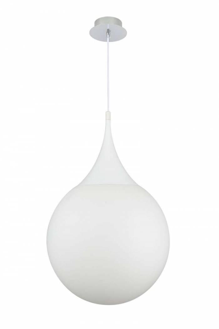 Lustră albă cu glob de 40 cm Dewdrop