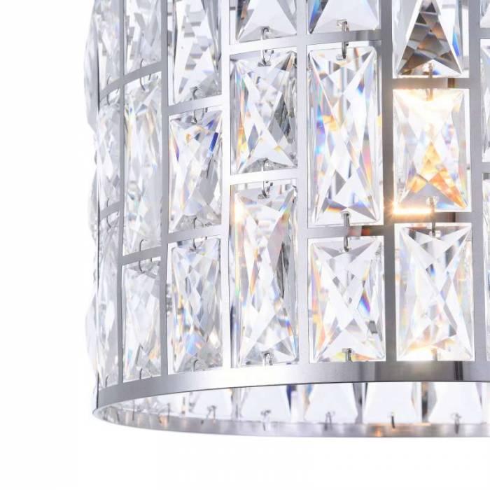 Lustră cu un bec și cristale decorative Gelid