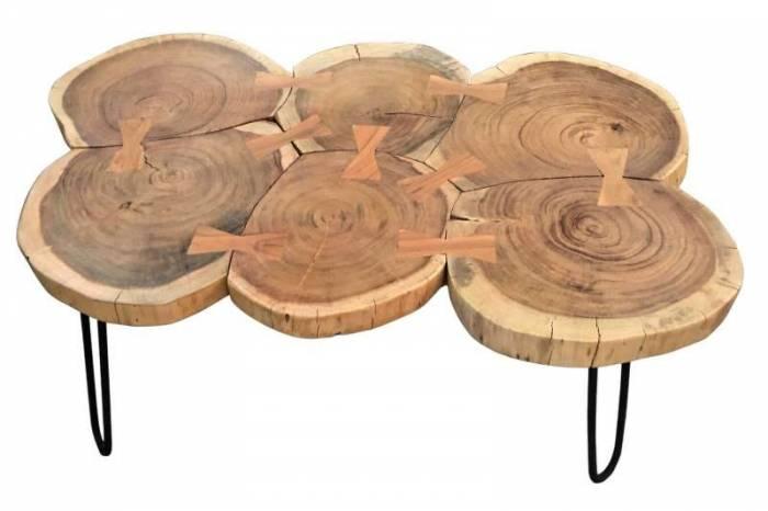 Masă de cafea din lemn de acacia Myall