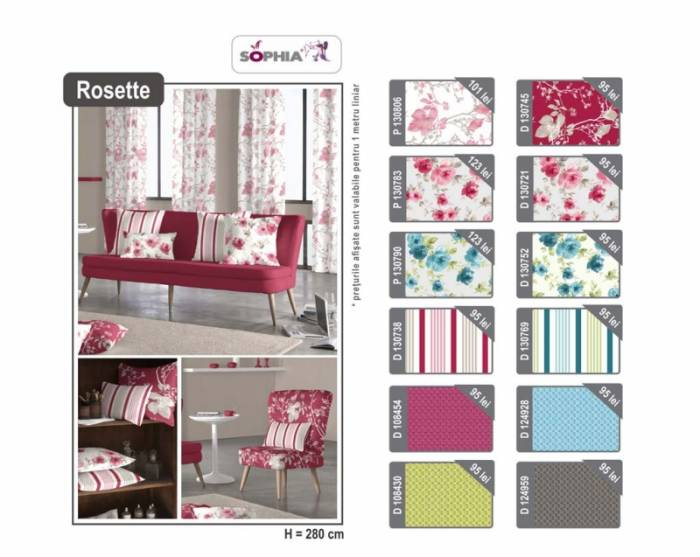 Material draperie Rosette Fuxia Net