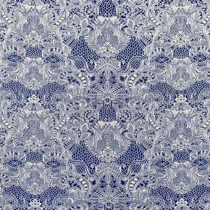 Material draperie brodată Firenze Blue