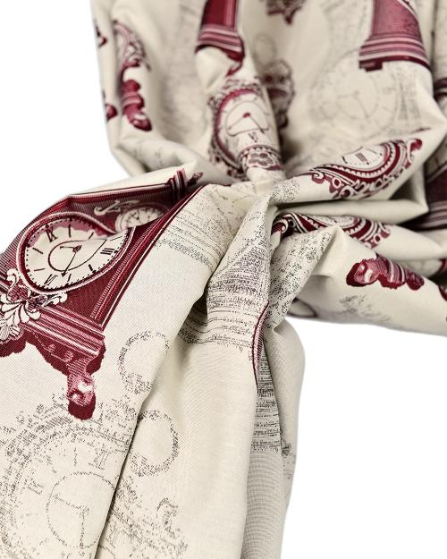 Material draperie Clock Kara Bordo