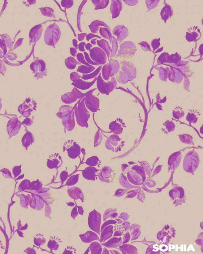 Material draperie Maria, imprimeu floral