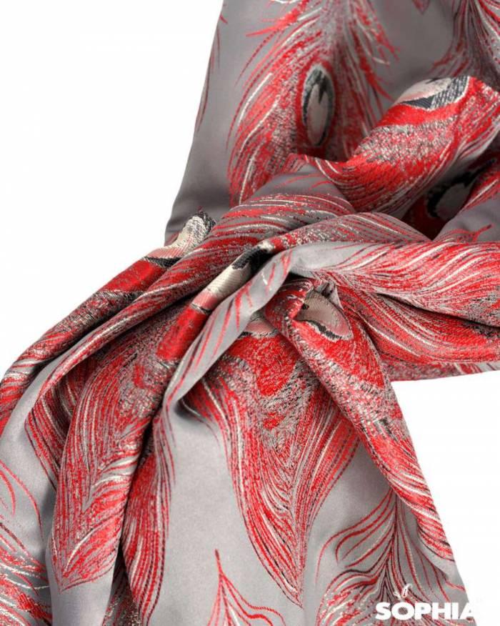 Material draperie Peacock