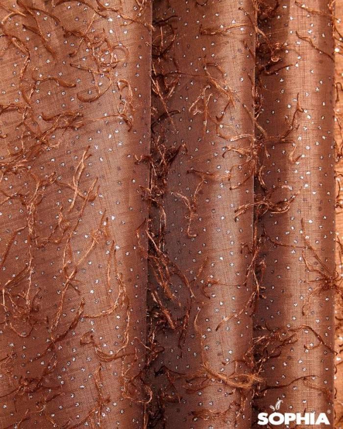 Material draperie Vigo, tafta cu zulufi si puncte