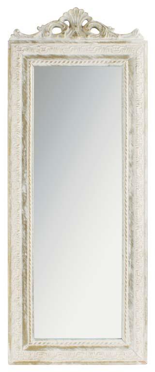 Oglindă cu ramă albă antichizată