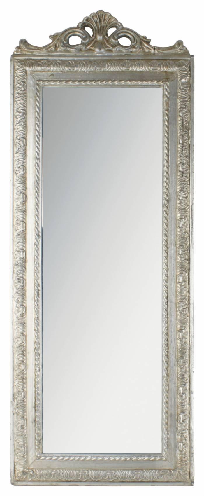 Oglindă cu ramă argintie Noblesse