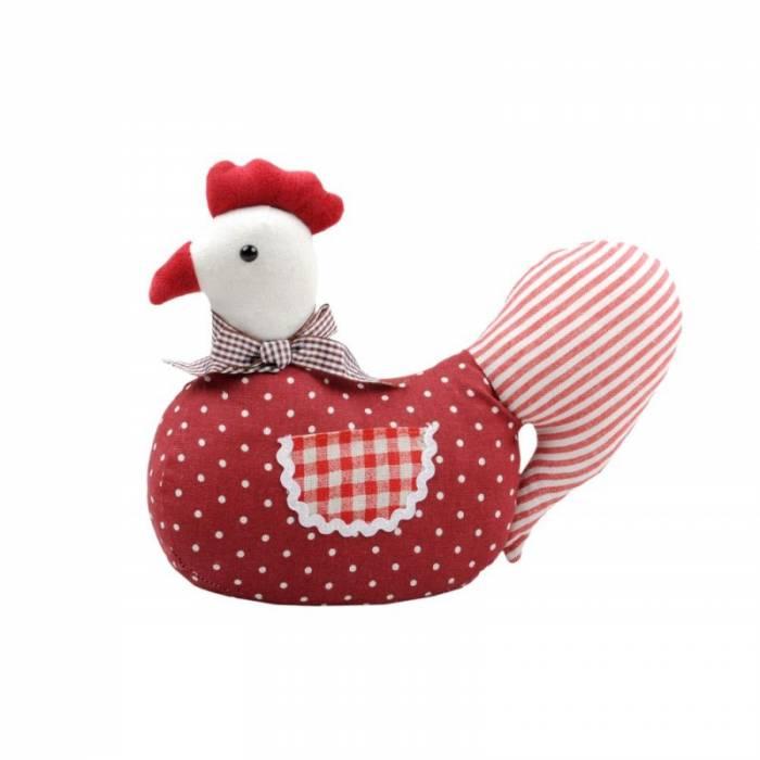 Opritor de ușă găină roșie Poulette 25 cm
