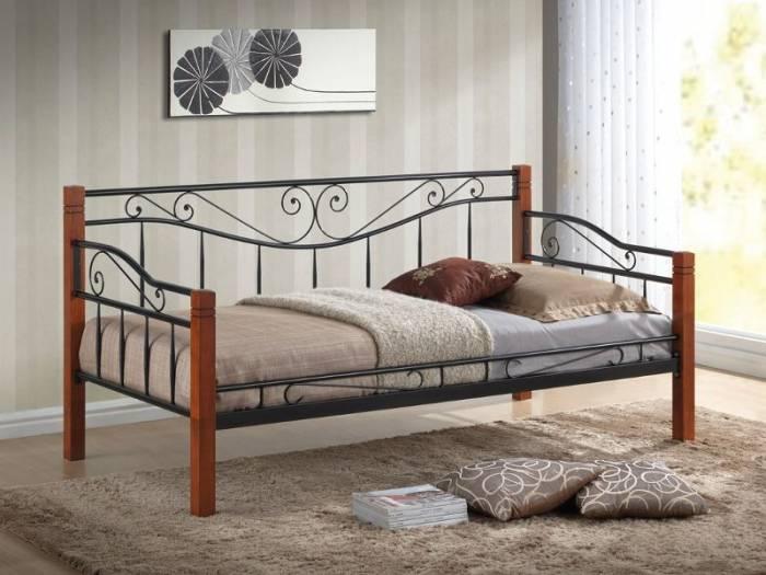 Pat canapea din metal şi lemn Toscane 90x200