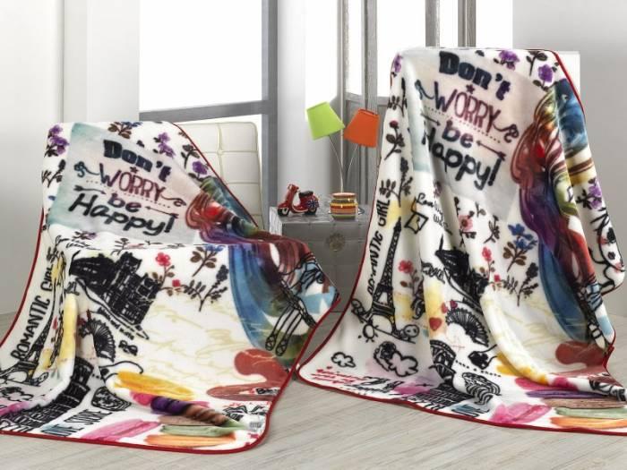 Pătură colorată fetițe Be Happy A90 130x170 cm