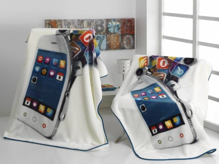 Pătură cuvertură Iphone telefon A89 130x170 cm