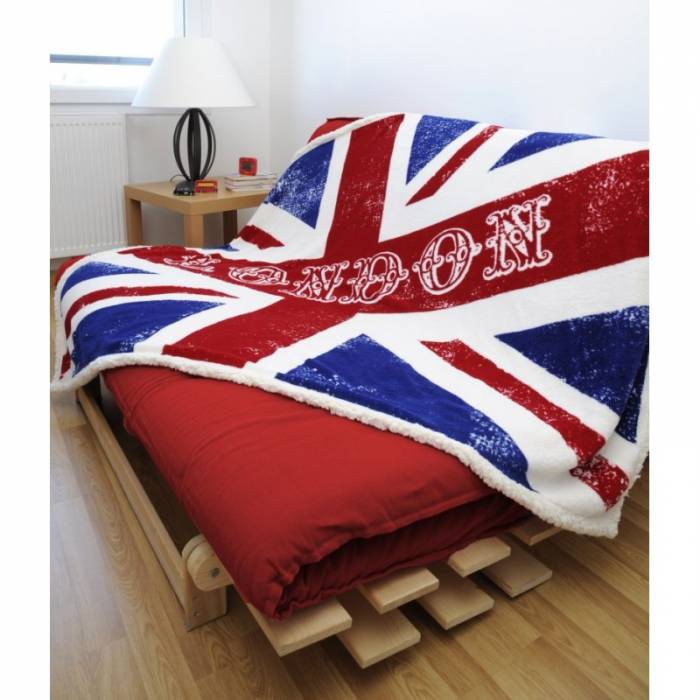Pătură pufoasă London steag UK Newcastle 130x160 cm