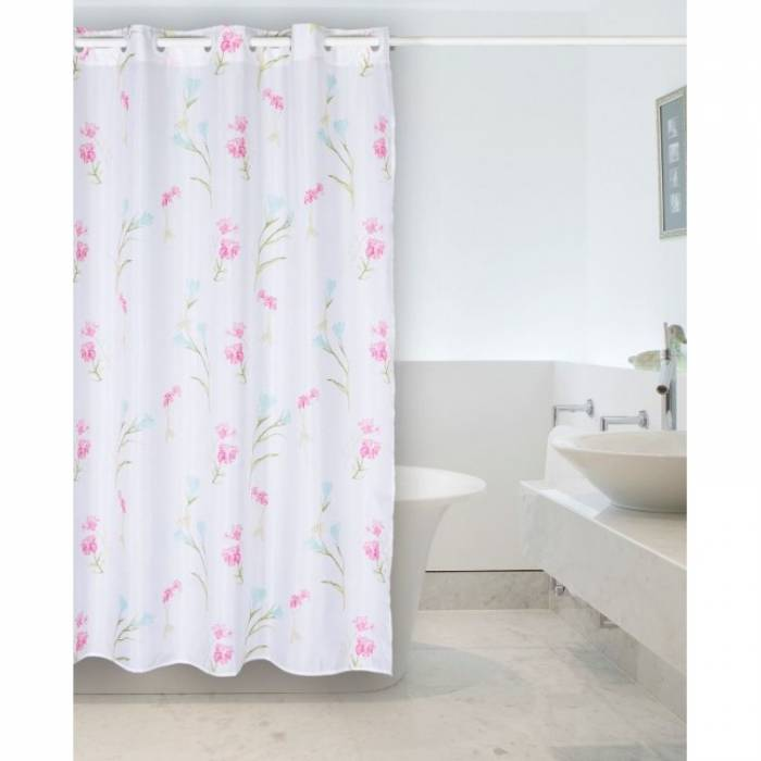 Perdea de duș flori roz 238 Ariela 180x200 cm