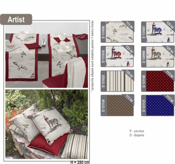 Material draperie Artist Reindeer Granate D