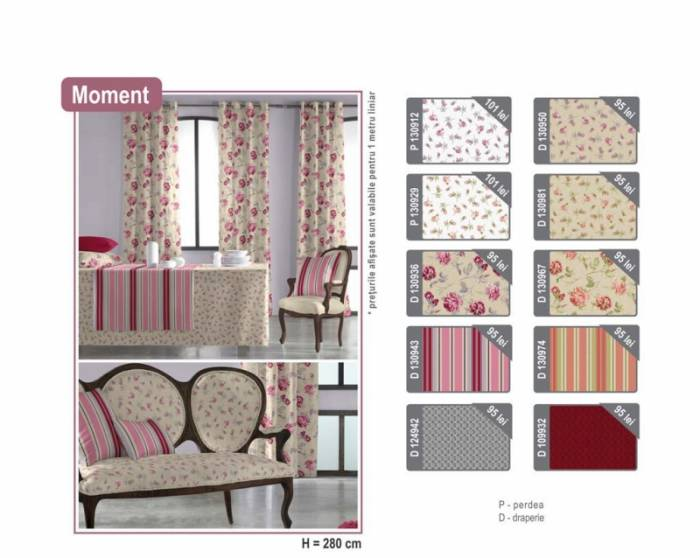 Material draperie Moment Coral B
