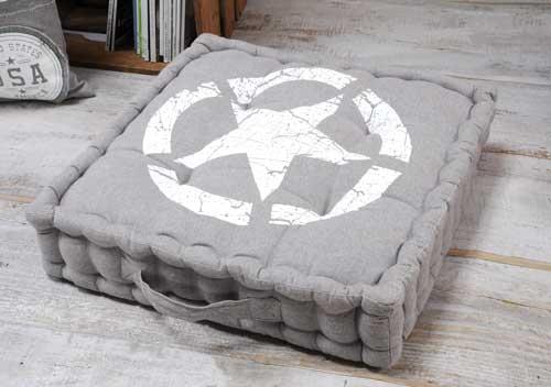 Pernă de podea gri Portland