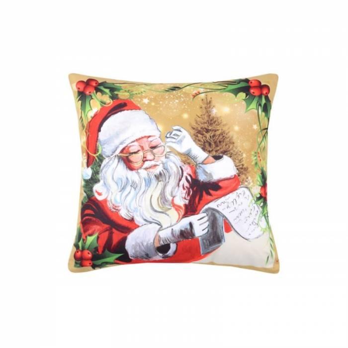 Pernă Moș Crăciun Jinglebells Jaune 40x40 cm