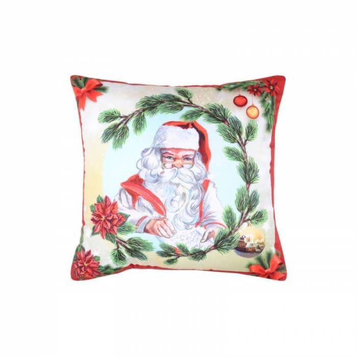 Pernă Moș Crăciun Jinglebells Rouge 40x40 cm