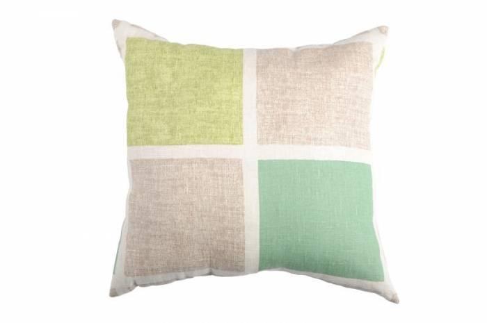 Pernă rustică verde pătrate 50x50 cm 100% in Colorsquare