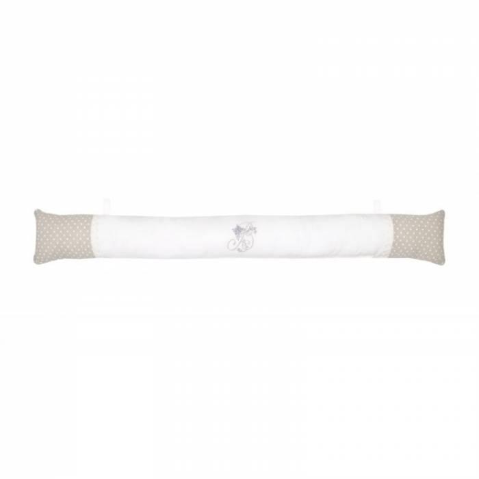 Pernă de ușă albă Berengere 10x90 cm