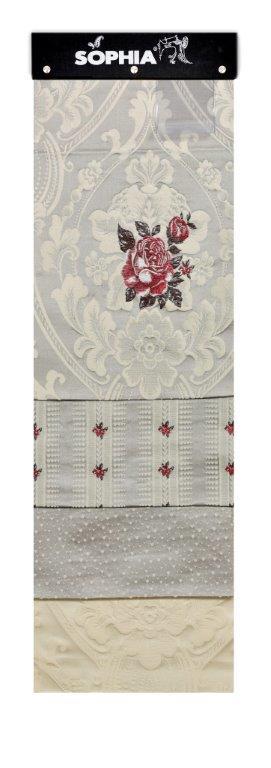 Material draperie Rosellini Plain Grey