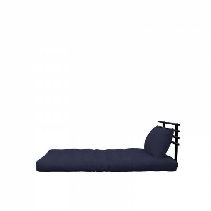 Sofa extensibilă textil bleumarin Shin Sano Black