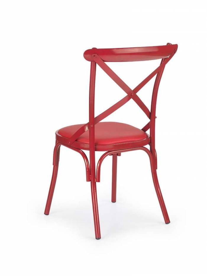 Scaun de dining roșu Sylvia