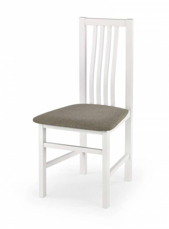 Scaun de dining Samuel 46x48x94 cm, lemn/textil, alb/bej
