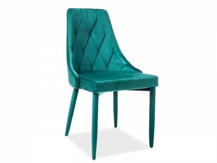 Scaun dining din catifea verde Trix