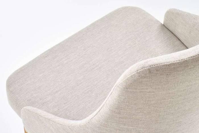 Scaun living tapițat alb Toledo