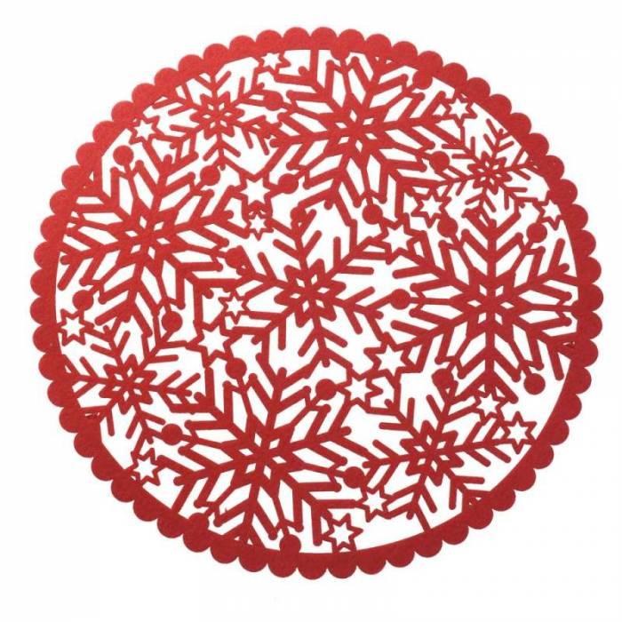 Set de 6 suporturi textile farfurii Flori dalbe
