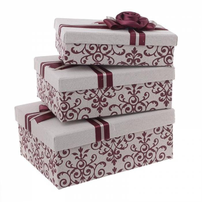 Set de trei cutii decorative Rioja