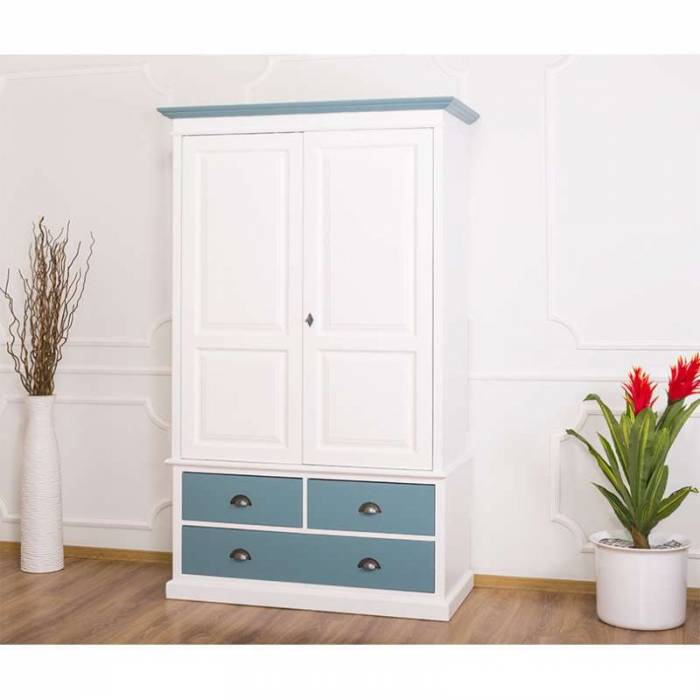Șifonier cu două uși și sertare Hios