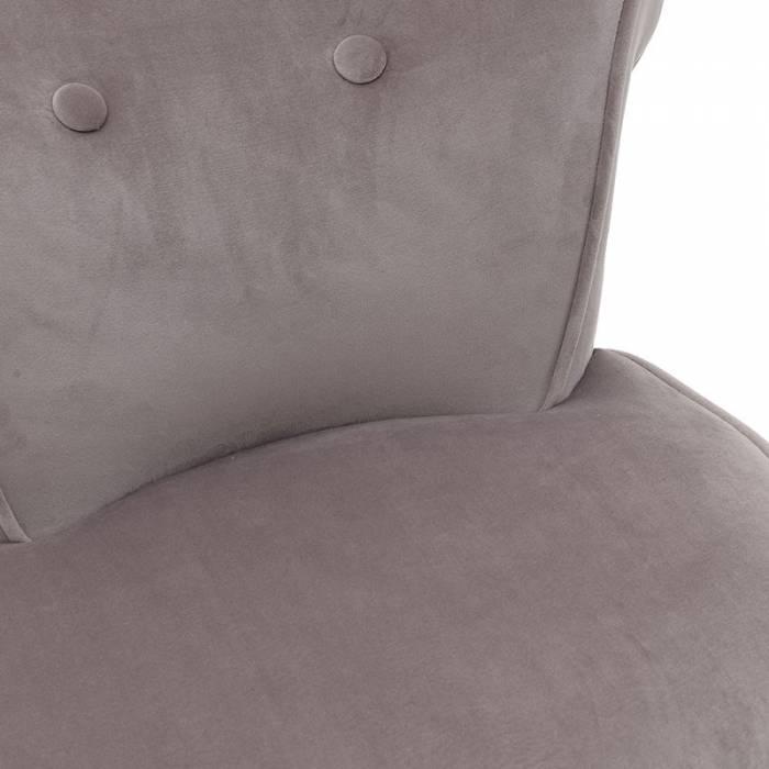 Taburet cu spătar Grey Velvet