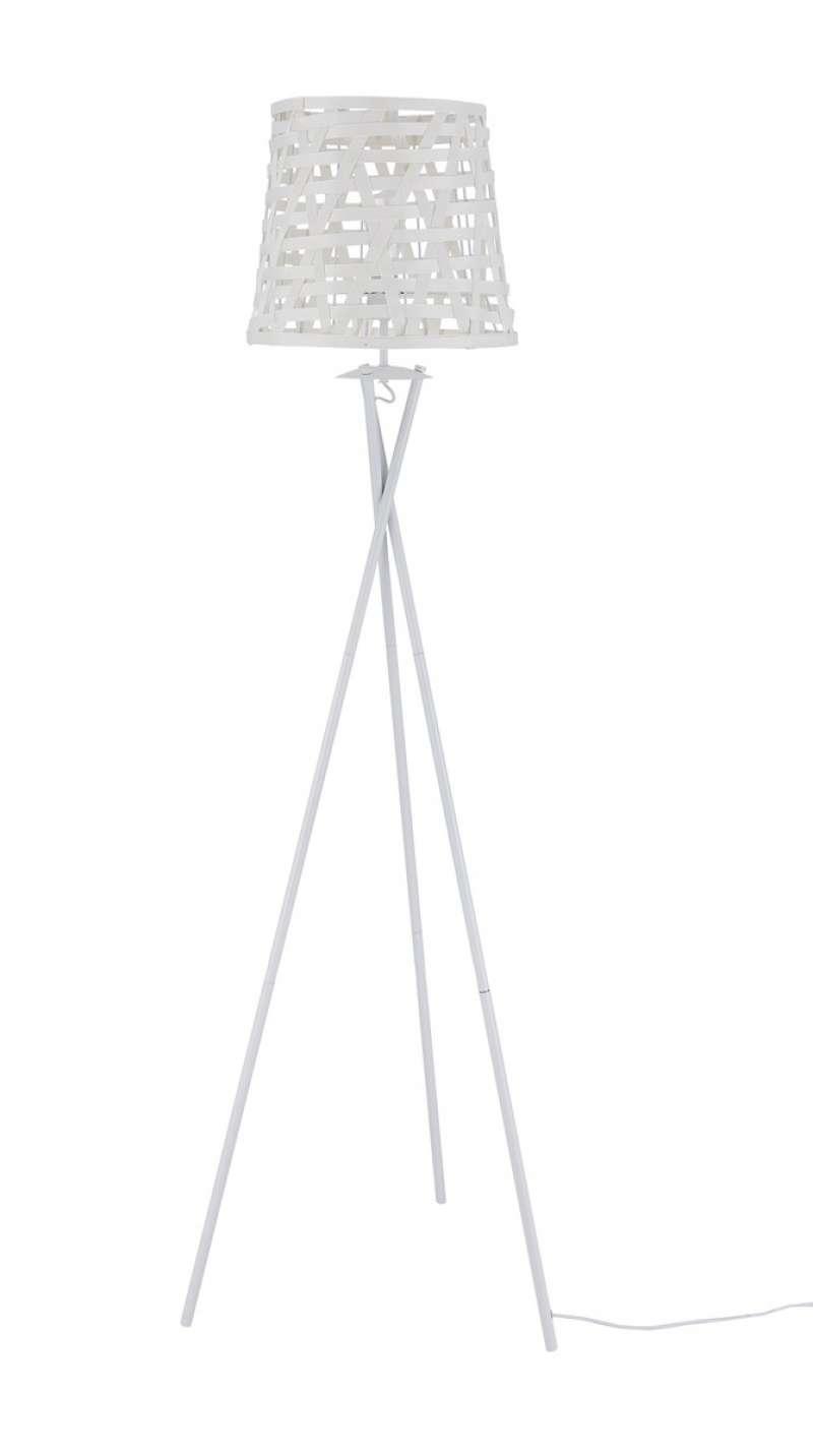 Lampadar modern Asris, 164x45x51 cm, metal/poliester, alb