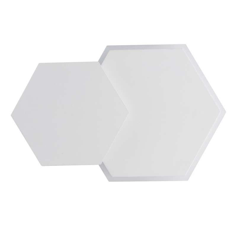 Aplică hexagon albă Alyce, 4.3x15x24 cm, metal/ acril, alb poza