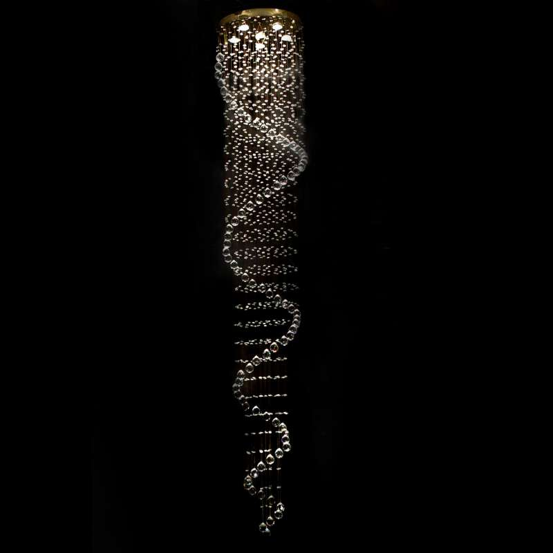 Candelabru modern cu cristale Cascade poza